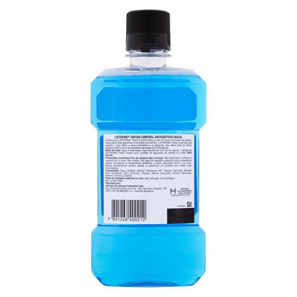 Enxaguante Bucal Antisséptico Menta Suave Listerine Tartar Control Frasco 500ml