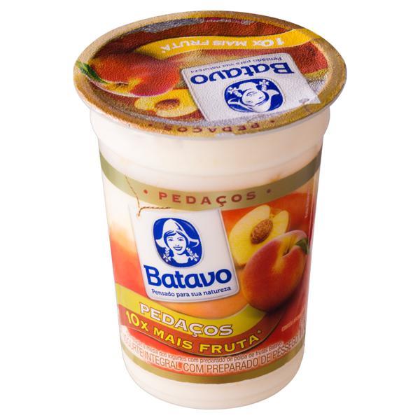Iogurte Integral Pêssego Batavo Pedaços Pote 170g