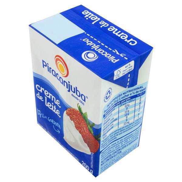 Creme de Leite UHT Homogeneizado Piracanjuba Caixa 200g