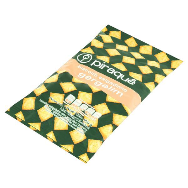 Biscoito Salgadinho com Gergelim Piraquê Pacote 100g