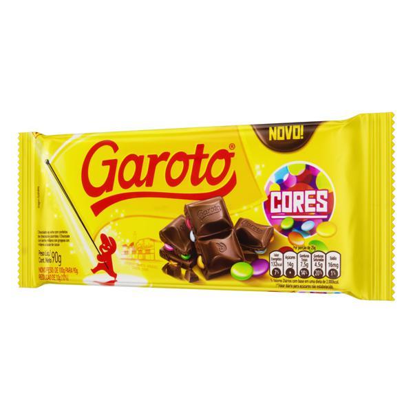 Chocolate ao Leite com Confeitos Garoto Cores Pacote 90g