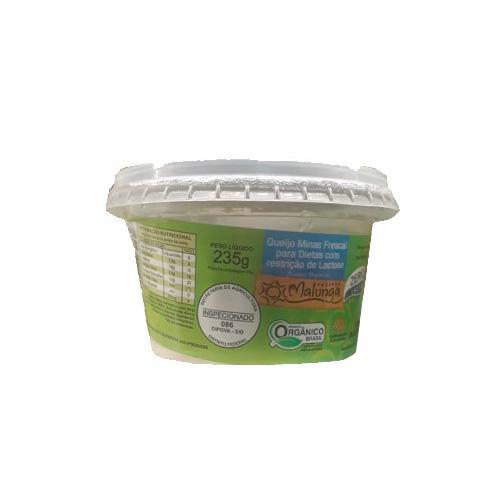 Queijo Minas Frescal Orgânico Sem Lactose 250g - MALUNGA
