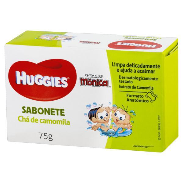 Sabonete Infantil em Barra Chá de Camomila Huggies Caixa 75g