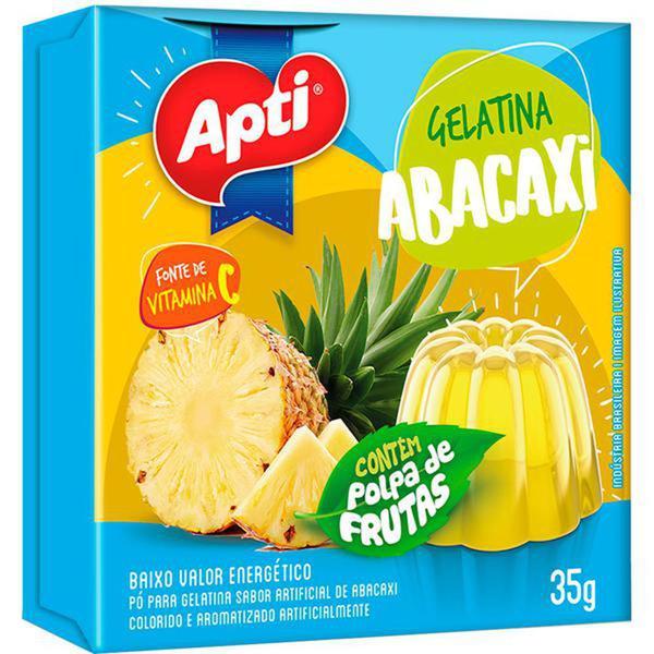 Gelatina Pó APTI Abacaxi 35g