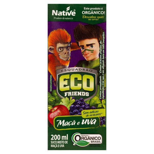 Suco Misto Orgânico Maçã e Uva Esquadrão Eco Friends Native Caixa 200ml