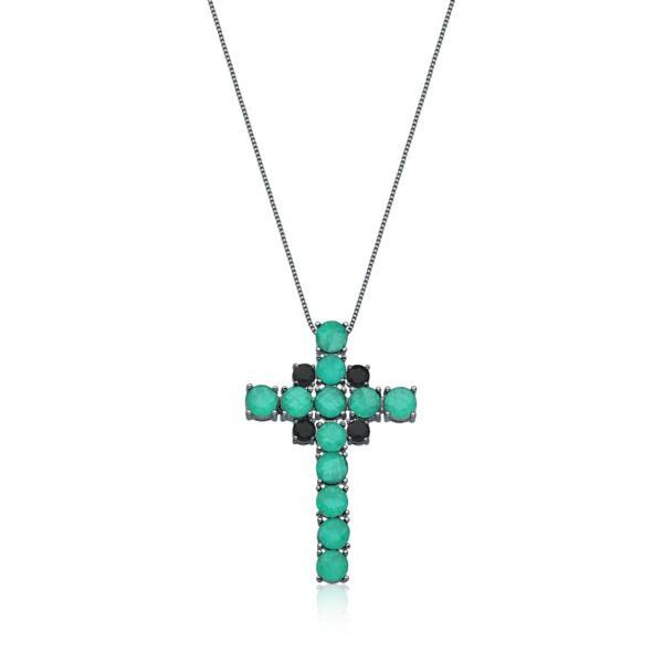 Colar Crucifixo Fusion - Ródio Negro