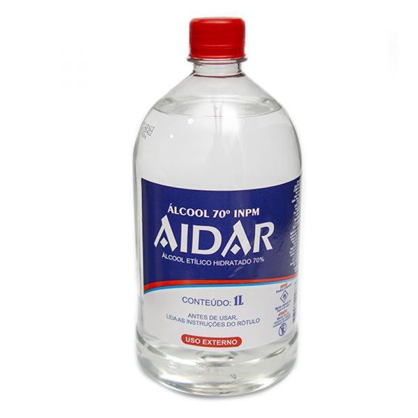 Álcool Aidar 1Lt 70°Inpm