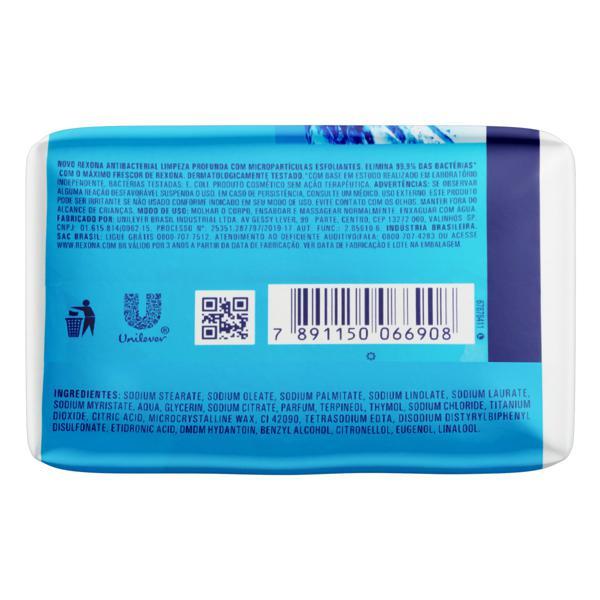 Sabonete em Barra Antibacterial Limpeza Profunda Rexona Cartucho 84g