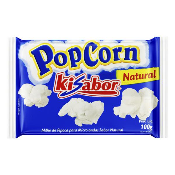 Pipoca para Micro-Ondas Natural Kisabor Pacote 100g