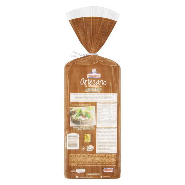 Pão de Forma Integral Pullman Artesano Pacote 500g