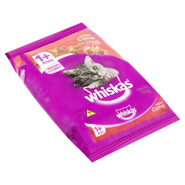 Alimento para Gatos Adultos 1+ Carne Whiskas Pacote 1kg