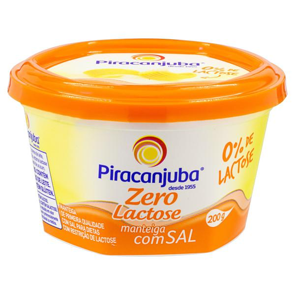 Manteiga com Sal Zero Lactose Piracanjuba Pote 200g