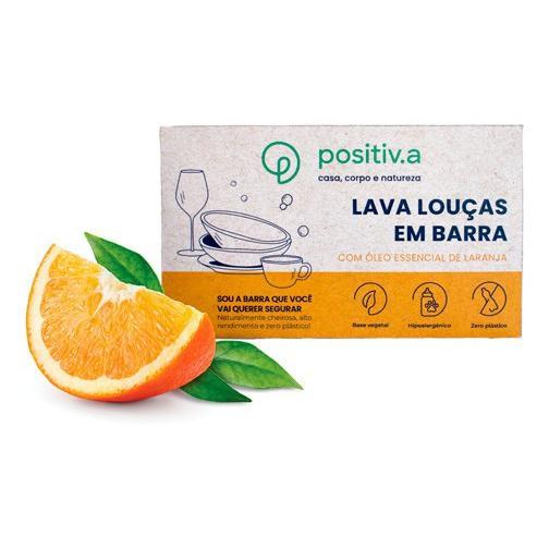 Lava louças em barra laranja - Positiva