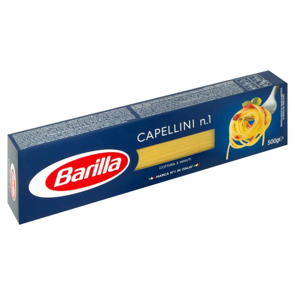 Macarrão de Sêmola Capellini 1 Barilla Caixa 500g