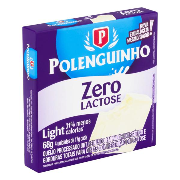 Pack Queijo Processado UHT Light Zero Lactose Polenguinho 68g 4 Unidades
