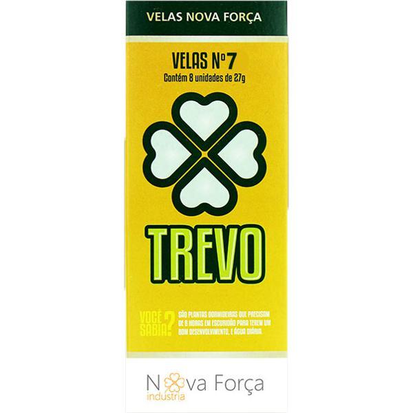 Vela TREVO In Box Nº7 com 8 Unidades 27g
