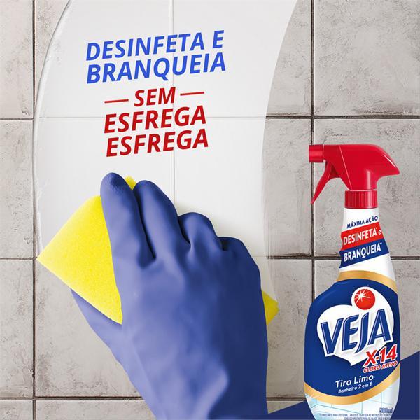 Desinfetante Multiuso Tira-Limo Veja X-14 Frasco 500ml Borrifador