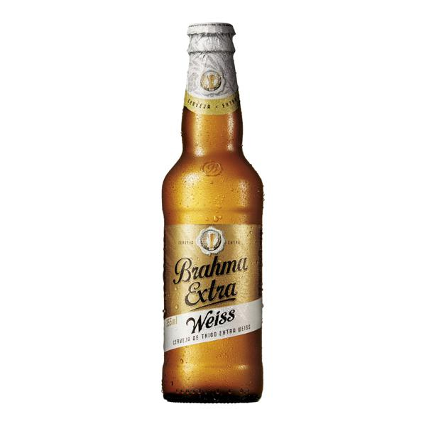 Cerveja Brahma Extra Weiss 355Ml Long Neck