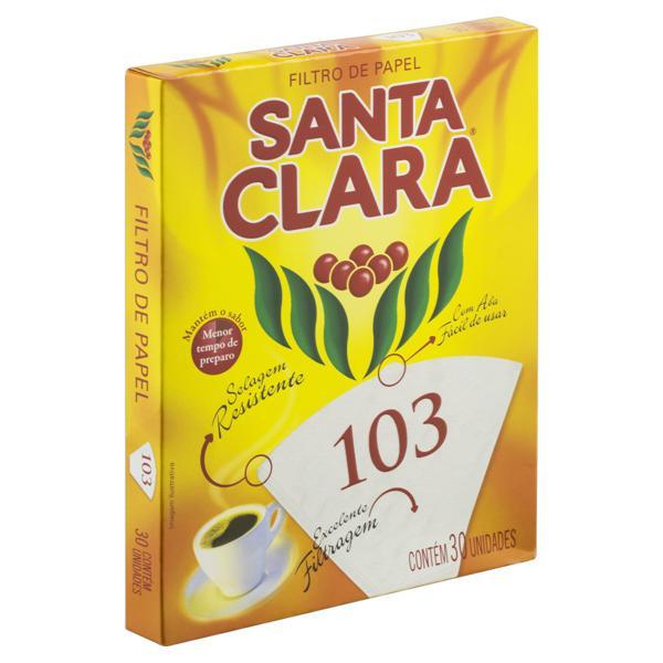 Filtro de Papel Santa Clara 103 Caixa 30 Unidades