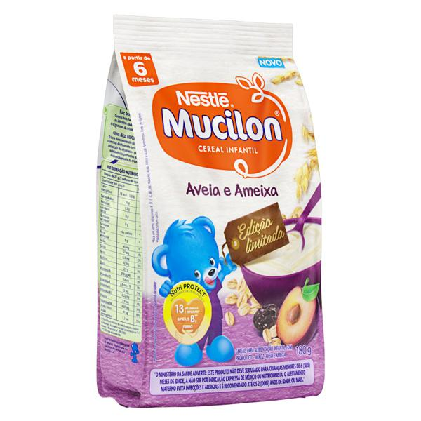 Cereal Infantil Aveia e Ameixa Nestlé Mucilon Pacote 180g