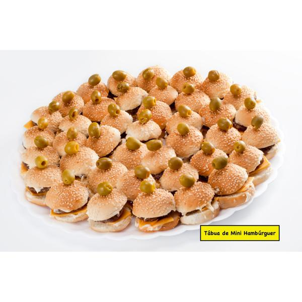 Tábua de Mini Hambúrguer - Mini hambúrguer grande (50 unidades)