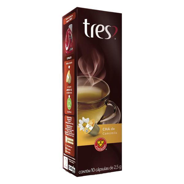 Chá em Cápsula Camomila Tres Caixa 25g 10 Unidades