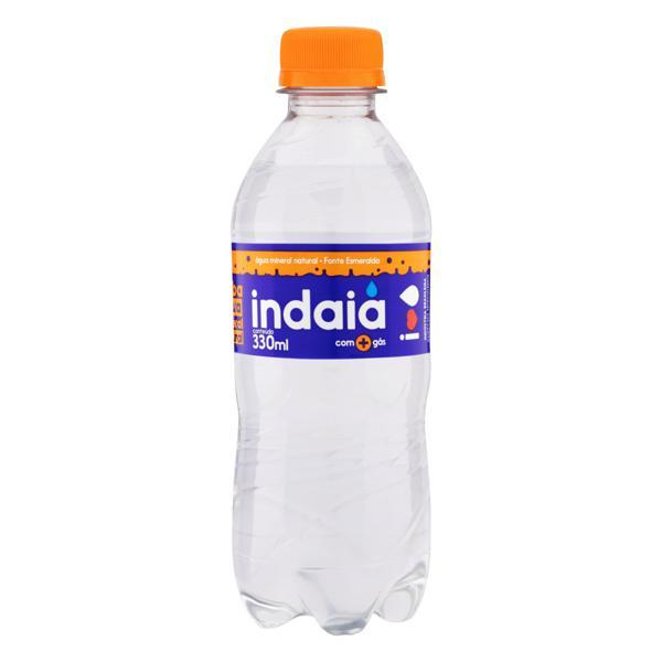 Água Mineral Natural com Gás Indaiá Garrafa 330ml