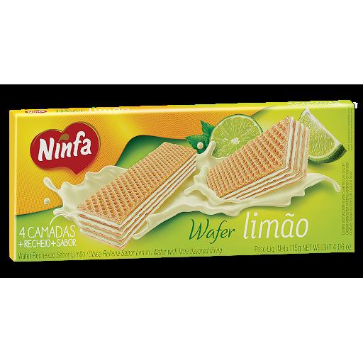 Biscoito Ninfa Wafer 100G Pacote Limao