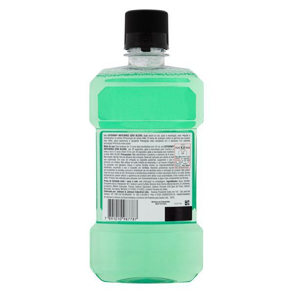 Enxaguante Bucal Antisséptico Zero Álcool Menta Listerine Anticáries Frasco 500ml