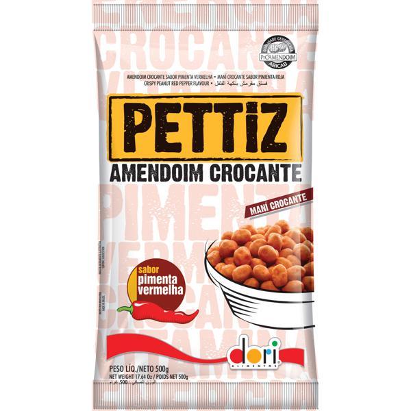 Amendoim Crocante Pimenta Vermelha Pettiz 500g