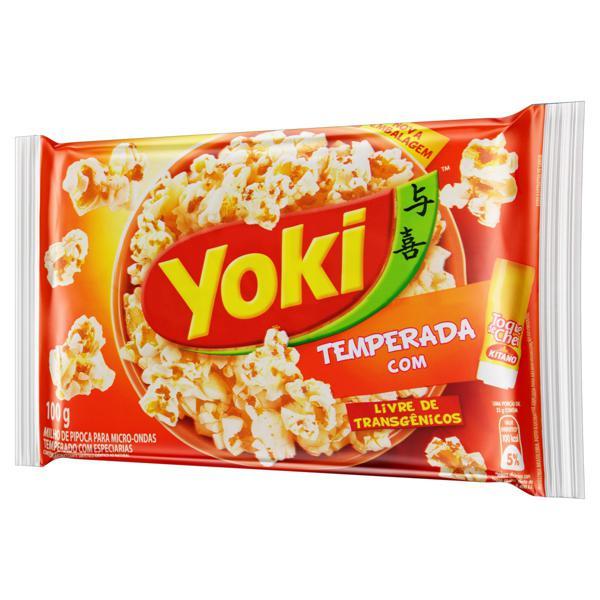 Pipoca para Micro-Ondas Temperada com Toque de Chef Yoki Pacote 100g