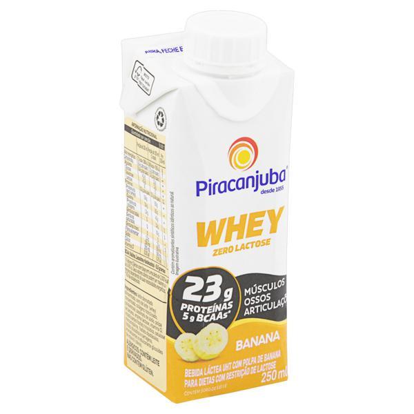 Bebida Láctea UHT Banana Zero Lactose Piracanjuba Whey Caixa 250ml