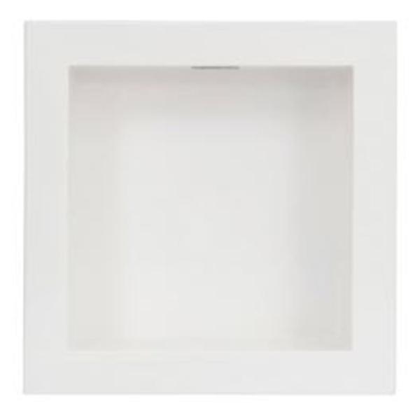 À vista 10% desc (boleto) - Nicho 30X30 Com  Led  Forma - Branco