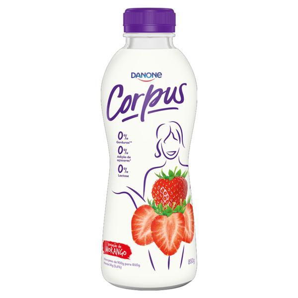 Iogurte Morango Zero Lactose Corpus Garrafa 850g