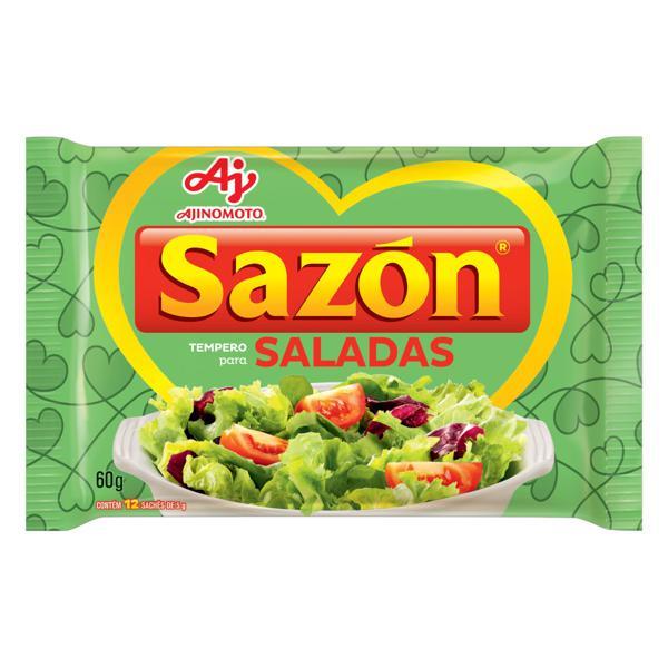 Tempero para Saladas Sazón Pacote 60g 12 Unidades
