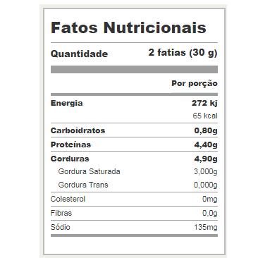 Queijo Minas Frescal Moedense (Peso médio unidade = 550g)