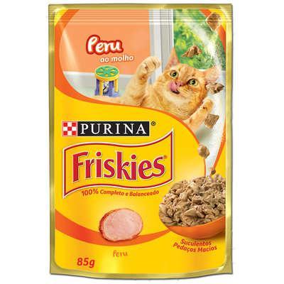 Ração Úmida para Gatos PURINA Friskies Sachê Peru ao Molho 85g