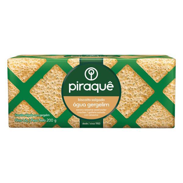 Biscoito Água com Gergelim Piraquê Pacote 200g
