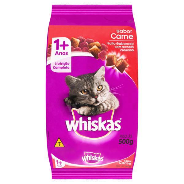 Alimento para Gatos Adultos 1+ Carne Whiskas Pacote 500g