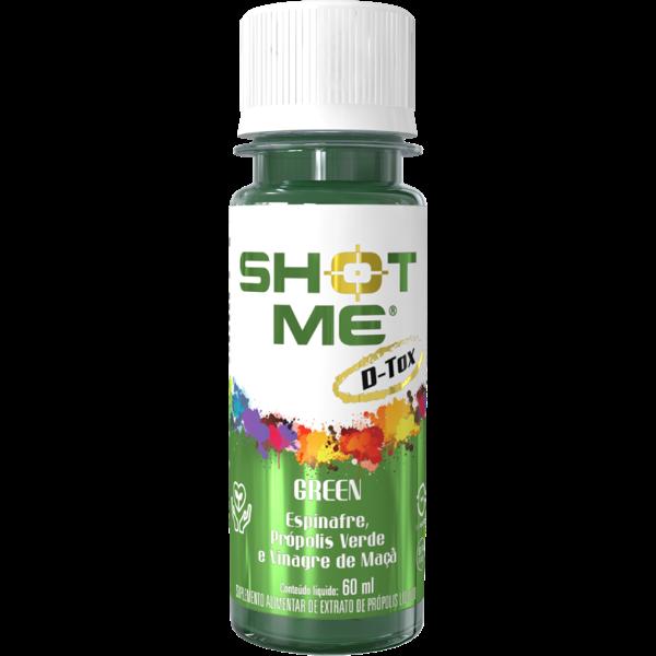 Shot Detox Espinafre e Vinagre de Maçã 60ml - Shot Me
