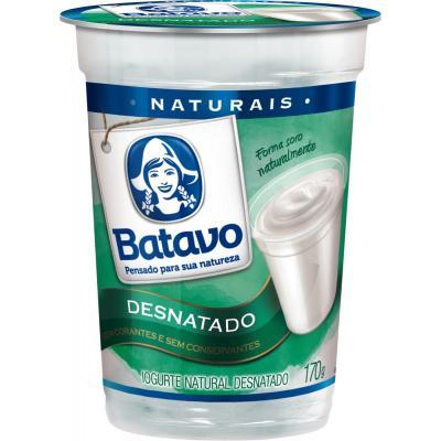 Iogurte Batavo 170G Natural Desnatado