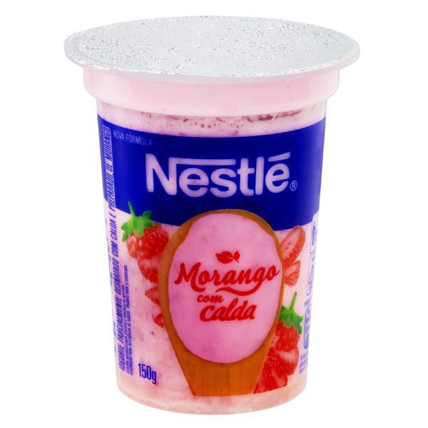 Iogurte Parcialmente Desnatado Morango Calda Morango Nestlé Pote 150g