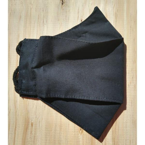 Máscara infantil preta (formato 3D)