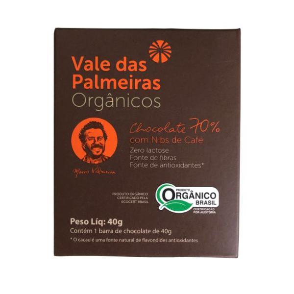Chocolate 70% com Nibs de Café Orgânico 40g