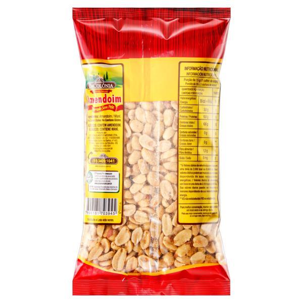 Amendoim Torrado sem Sal DaColônia Pacote 500g