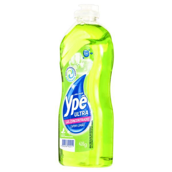 Detergente Ultra Gel Concentrado Capim-Limão Ypê Frasco 416g