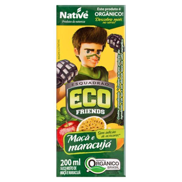 Suco Misto Orgânico Maçã e Maracujá Esquadrão ECO Friends Native Caixa 200ml