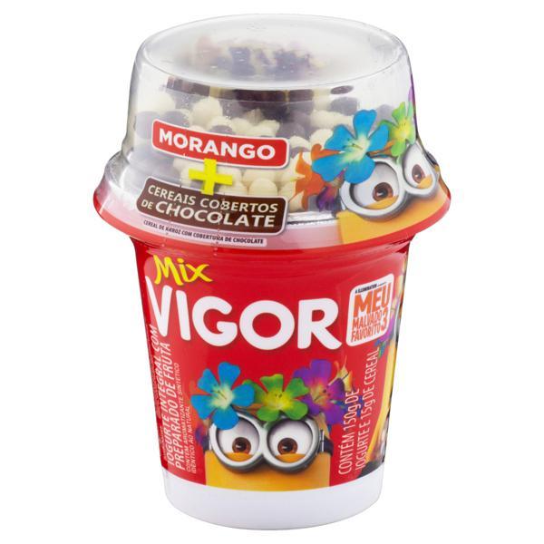 Iogurte Integral Morango com Cereais de Chocolate Meu Malvado Favorito 3 Vigor Mix Pote 165g