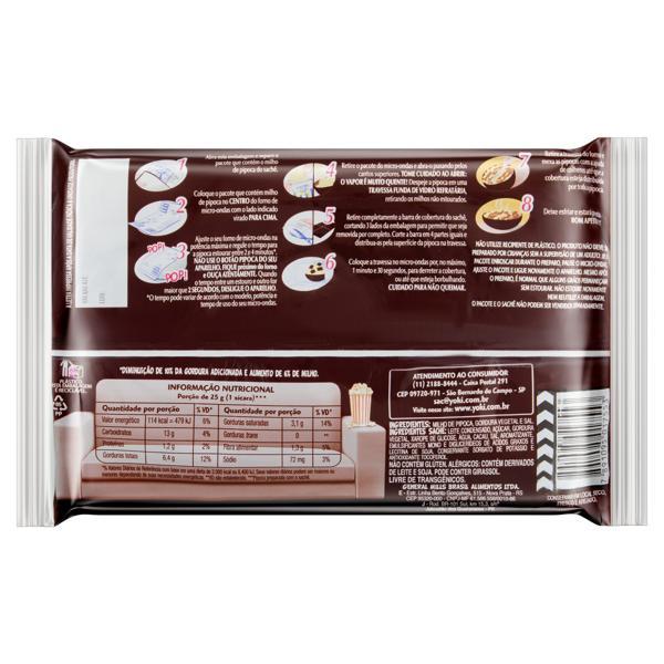 Pipoca para Micro-Ondas Cobertura Chocolate Yoki Pacote 160g