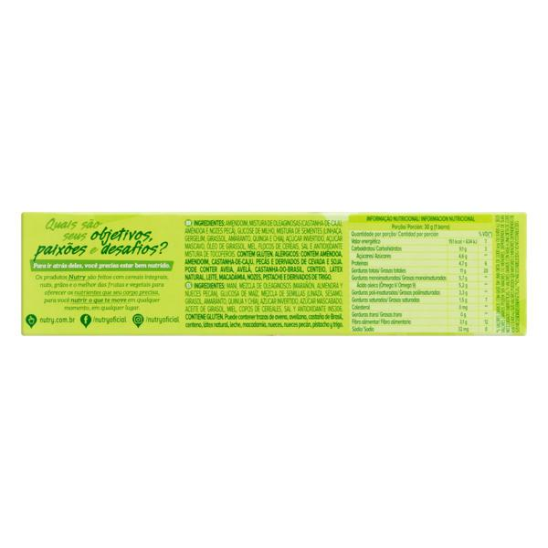 Pack Barra de Nuts Sementes Nutry Caixa 60g 2 Unidades